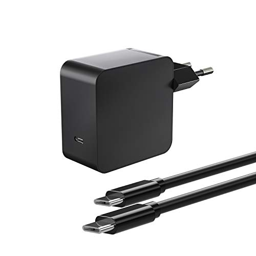 Oregon PD 65W Type-C Wall Charger Compatible with MacBook Pro iPad Pro 2018, iPhone 11 Pro Max X XS XR 8, Galaxy S9 S9 + S10 USB C-C Cable