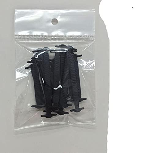 16 cordones de silicona elásticos perezosos sin lazo, para correr, zapatillas de deporte, cordones para zapatos, accesorios para hombres, mujeres, negro, Federación de Rusia