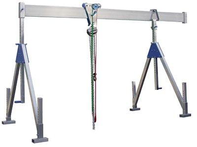 Aluminium-Schnellbau-Portalkran, klappbar, Traglas t 1500 kg, lichte Höhe 1810-3060 mm, Gesamtbreite