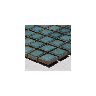 『廣美陶房 窯変 モザイク19ミリタイル N-206 ターコイズグリーン』のトップ画像