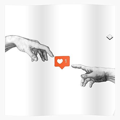 Like Media Hands Worship Idol Instagram Twitter Social Facebook Póster de regalo de Showtime para decoración del hogar de arte de pared de mayor venta