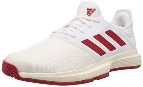 Adidas GameCourt M,  Zapatos de Tenis Hombre,  FTWR White/Scarlet/Off White,  40 2/3 EU