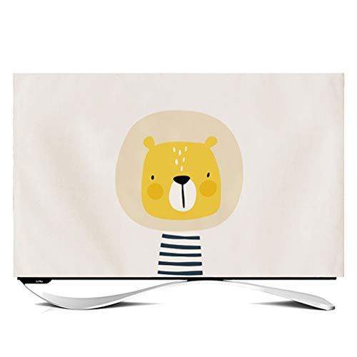 Cubierta Plegable De TV POP Cubierta Antipolvo Para Escritorio LCD LED Pantalla Plana Monitor De Pantalla De Computadora Curva Colgante Cubierta De Plasma Tipo 24-40in TV C(Color:León,Size:28inch)
