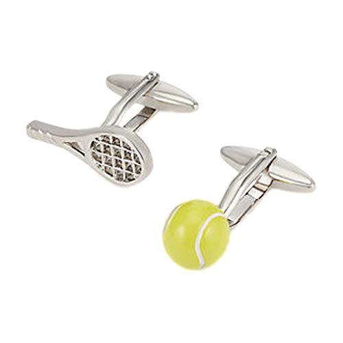 The Cufflink Shop Inoxydable raquette de tennis de l'acier et billes boutons de manchette - coffret cadeau de luxe inclus