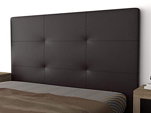 LA WEB DEL COLCHON - Cabecero tapizado Andrea para Cama de 135 (145 x 120 cms) Chocolate
