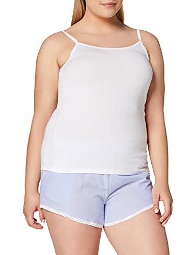 Marchio Amazon - Iris & Lilly Canotta Body Natural Donna, Pacco da 2, 1 x Bianco & 1 x Rosa Chiaro, M, Label: M
