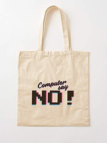 Saltandlaceintimates Britain Little Geek Funny No Birthday Computer Says Tote Cotton Very Bag   Bolsas de supermercado de lona Bolsas de mano con asas Bolsas de algodón duraderas