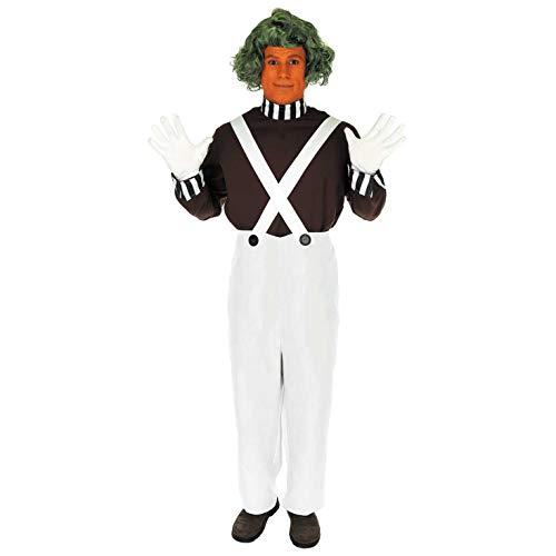 Fun Shack Braunes Schokoladenfabrik Arbeiter Kostüm für Herren, Karneval und Halloween - XL