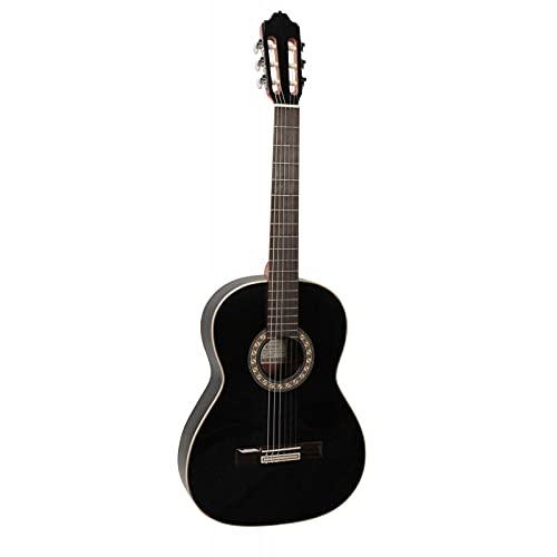 Esteve 15464 - Guitare classique 4/4 Gamberra cèdre massif - Noir brillant
