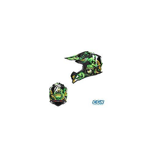 NOX Casco Cross, Inferno Verde, Taglia XL