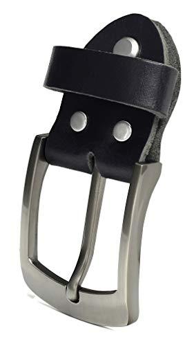 Fa.Volmer ® Einzelne Gürtelschnalle als Ersatz für schwarzen Ledergürtel 3,8 cm Typ #10125 (Standart)