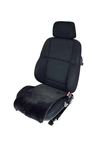 Leibersperger Autositz-Auflage/Aufleger aus Merino Lammfell Premium 36cm Breite x 60cm Länge für Sitzfläche (Schiefer)