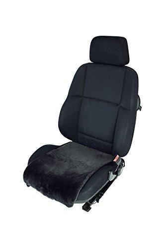 Leibersperger Felle Autositzauflage Sitzbezug Sitzkissen aus Lammfell Premium für Sitzfläche 36 cm x 60 cm (Schiefer)
