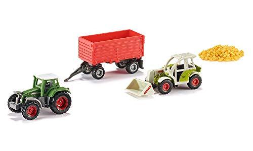 SIKU 6304, Geschenkset - Landwirtschaft, 4-teilig, Metall/Kunststoff, Multicolor, Spielkombination, Bewegliche Teile