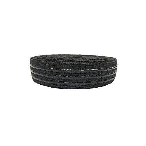 Stretchy Elastic Band Silicone Backed Gripper Elastic Webbing Non-Slip Elastic Ribbon - 5 Yards per roll (4/5'')