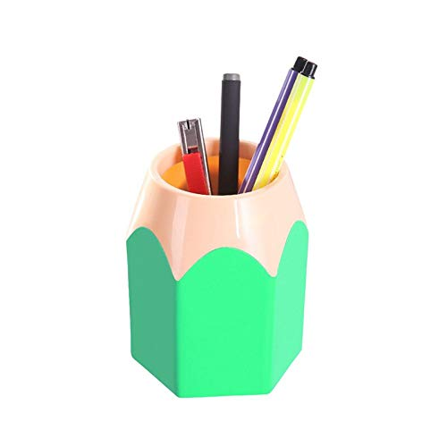 New Mini Pencil Pot Holder Pen Storage Vase Stationery Gift Cup Makeup Brush Container Box Desk Organizer Kawai Girls Gifts as show