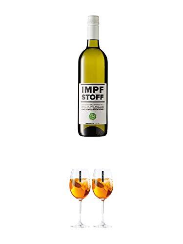 Impfstoff Weißwein 0,75 Liter + Scavi & Ray Wein Glas 2 Stück