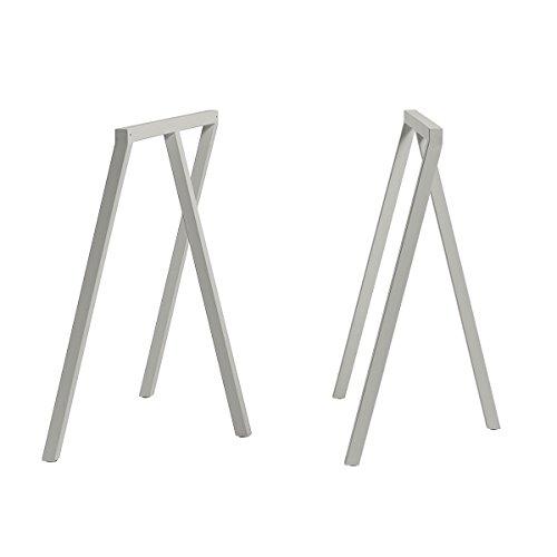 HAY Tischböcke, Stahl, grau, Höhe: 72 cm, Tiefe: 37 cm, Länge: 64,5 cm