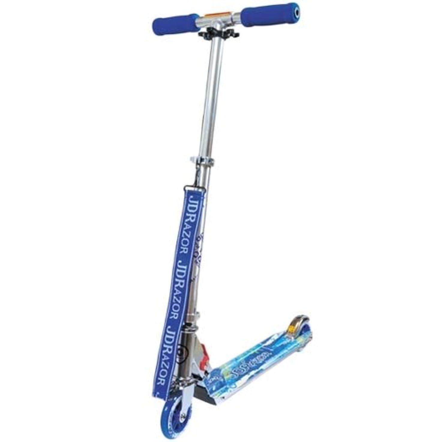 盗難知り合いはっきりと[ジェイディレーザー] キッズ スクーターボード キックスケーター ショルダーストラップ付き ブルー MS103-X2