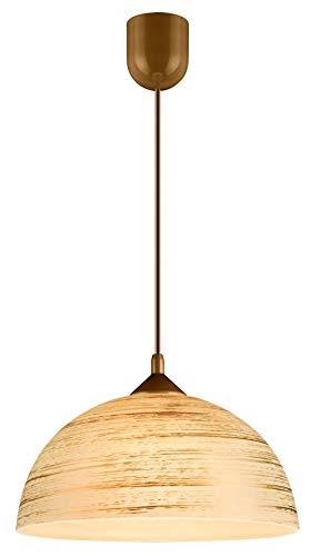 Küchenlampe hängend Glas handbemalt Ø30cm in Gold Retro Design E27 Pendelleuchte Küche FERA