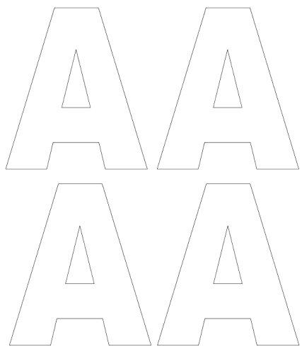 4x Buchstabe A weiß Mülltonne Aufkleber