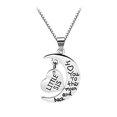 Un-brand Ich Liebe Dich Zum Mond U0026 Zurück Halskette Anhänger Charm Geschenk Für Schwestern 3 Exquisite Verarbeitung