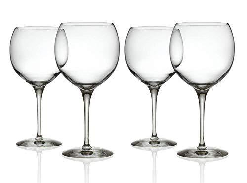 Alessi Mami XL | SG119/0S4 - Set di 4 Bicchieri per Vini Rossi in Vetro Cristallino