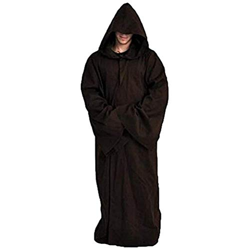 GVCT Camisas de Dormir para Hombre, Batas con Capucha, Bata de bao, Bata de Franela Larga de Invierno para Hombre, Disfraz de Caballero Jedi del Imperio Galctico
