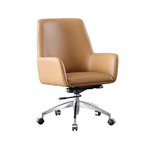 QJF Silla de oficina de diseño ergonómico, con apoyabrazos moderno y simple para el hogar, conferencia, soporte de cintura, silla giratoria para computadora