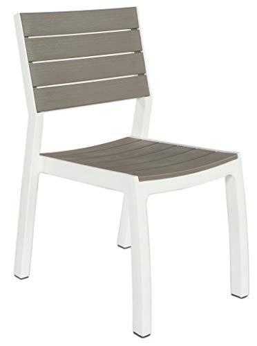 Keter - Silla'Harmony', color blanco/gris pardo, de NEXTRADEITALIA, paquete de 1 unidad