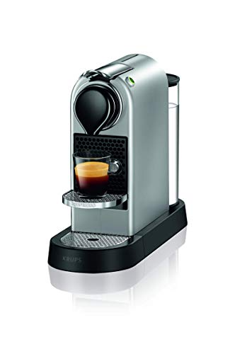 Nespresso XN741B Silver EU, Acero Inoxidable, Citiz Gris, Cafetera de Cápsulas (Reacondicionado)