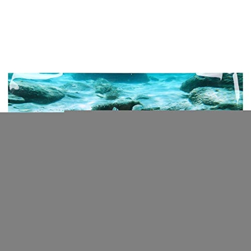 GOTOTOP Aquarium Poster,Meeresboden Rock Pattern Aquarium Hintergrund Poster PVC Selbstklebende Aufkleber Aquarium Wallpaper Dekoration(122 * 50cm)