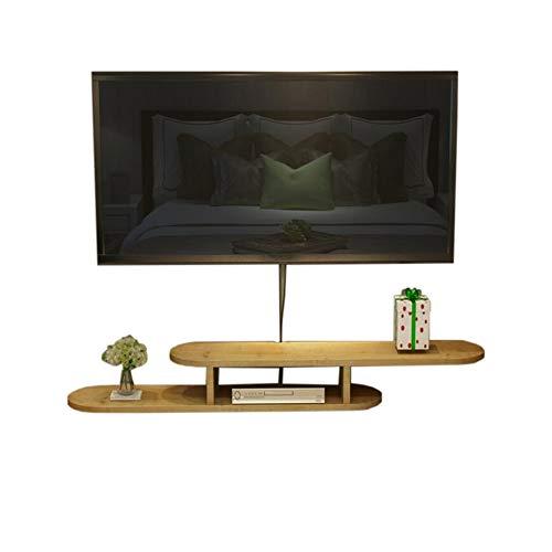 Xyanzi-Schweberegale Hängender Fernsehschrank Wandhalterung Schwimmrahmen TV-Konsole Wandregal Unterhaltung Massivholz, 3 Farben Funktionelles Ablagefach (Farbe : C, größe : 120 * 20 * 16cm)