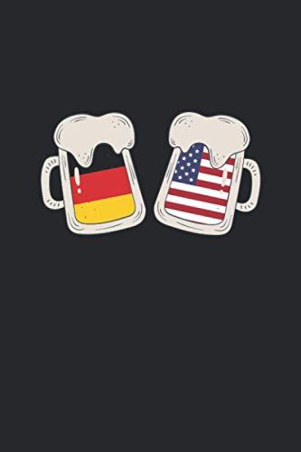 Brauprotokoll: Das Notizbuch für alle Hobbybrauer und Heimmbrauer ♦ handliches 6x9 Format ♦ über 160 Seiten ♦ ausführliches Braujournal zum ausfüllen I Motiv: Deutsch Amerika Bier