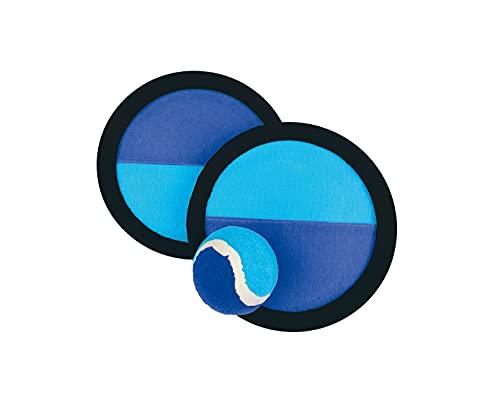 Smart Planet® Klettball-Fangspiel 2 x Fangscheibe Ø ca. 19 cm - 1 Ball Ø ca. 6 cm Strandspiel Set für Kinder Tennisball mit Klettteller
