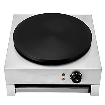 """Crepe Maker Machine 16"""" Pancake big Hotplate Non Stick (Electric 3000W) Adjustable Temperature for Commercial"""