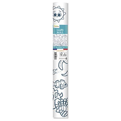 Avenue Mandarine gy081C graffy Roll 90g, rollos de papel para colorear, Póster 5m x 0,35m, para de fieltro y schreibstifte Adecuado, 1pieza, piratas y sirenas