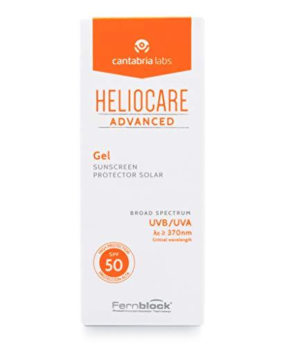 Heliocare Advanced Gel SPF 50 - Crema Solar Facial, Textura Gel, Ligera, Rápida Absorción, Antioxidante, Pieles Mixtas o Grasas, No Comedogénica, 50ml