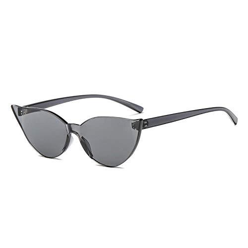 DLSM Gafas de Sol de una Pieza Mujeres Vintage Gato Ojo Gafas de Sol Color Color Color Transparente Vacaciones de Compras Adecuado para Deportes al Aire Libre y Senderismo-Negro