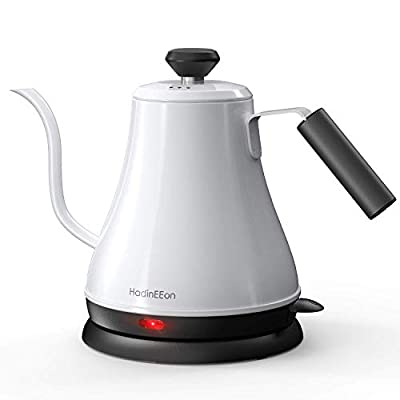HadinEEon Electric Gooseneck Kettle 100% Stainless Steel BPA-Free Tea Kettle, Electric Pour Over Coffee Kettle Pot Portable Cordless Teapot with Auto Shut-Off Protection, 1000 Watt, 0.8L (Renewed)