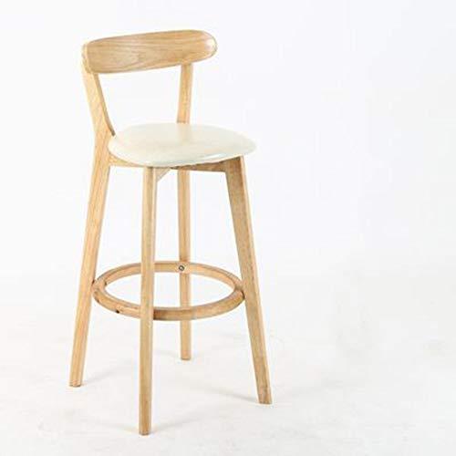 Set de taburetes de bar modernos Silla de madera de alta Taburete retro madera maciza Americanos Presidente del respaldo simple taburete Nórdico for el hogar creativo Bar taburetes de bar modernos