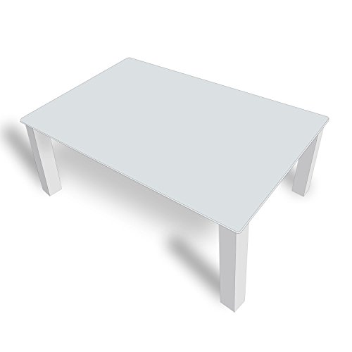 DekoGlas FMK-56-072 Table Basse en Verre Gris uni 45 cm de Haut avec Plateau en Verre 80 x 80 cm 100 x 100 cm 90 x 55 cm 112 x 67 cm 120 x 75 cm
