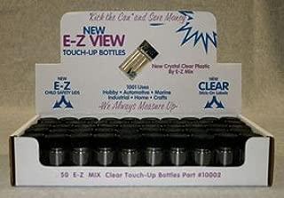 E-Z Mix 10002 E-Z Clear Touch-Up Bottle, 50 Pack