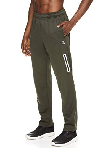 Reebok Men's Track & Running Pants with Pockets - Athletic Workout Training & Gym Pants for Men - Tremont Pant Rosin Heather, Large