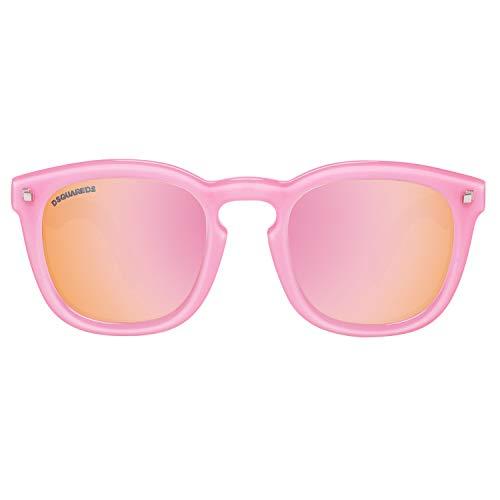 DSQUARED2 Sunglasses Dq0198 74Z 49 Gafas de sol, Rosa (Pink), Unisex Adulto