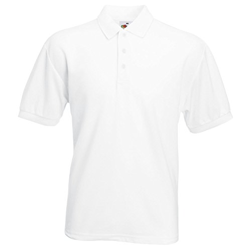 Fruit of the Loom - T-shirt 65/35 à manches courtes pour homme - blanc - Large
