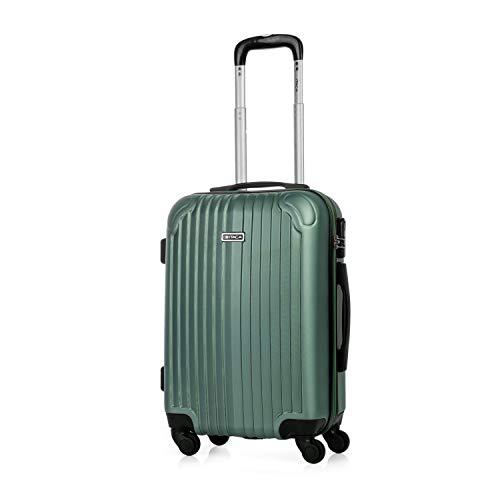 ITACA - Maleta de Viaje Cabina rígida 4 Ruedas 55 cm Trolley abs. Equipaje de Mano. pequeña cómoda y Ligera. Low Cost ryanair. Estudiante. Calidad y diseño. t71550, Color Aguamarina