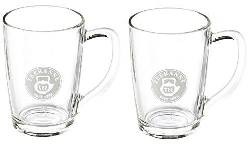 Teegläser mit Henkel 2er Set - 230 ml Teeglas aus Glas, Transparent von Teekanne