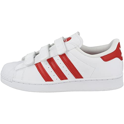 adidas Superstar FZ0643 White Red Blanco Size: 30 EU