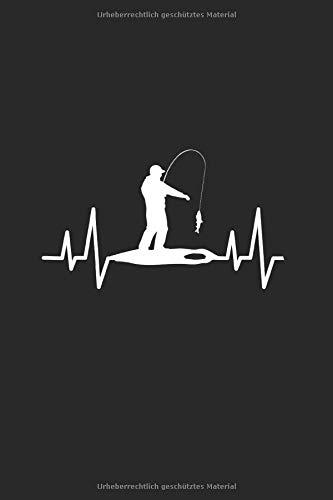 Eisfischen Eisangeln Herz Notizbuch: Angel Angelteich Angelgewässer Alkohol | Notizheft | Schreibheft | Tagebuch |